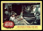 1977 Topps Star Wars #134   Luke dreams of being a star pilot Front Thumbnail