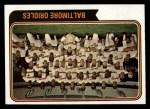 1974 Topps #16   Orioles Team Front Thumbnail