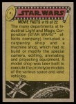 1977 Topps Star Wars #215   Han bows out of the battle Back Thumbnail