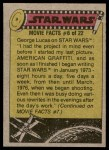 1977 Topps Star Wars #240   Artoo's desperate mission Back Thumbnail