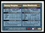 1997 Topps #478  Danny Peoples / Jake Westbrook  Back Thumbnail