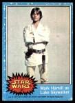 1977 Topps Star Wars #57   Mark Hamill as Luke Skywalker Front Thumbnail