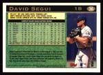 1997 Topps #36  David Segui  Back Thumbnail