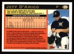1997 Topps #39  Jeff D'Amico  Back Thumbnail