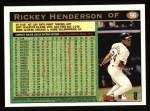 1997 Topps #96  Rickey Henderson  Back Thumbnail