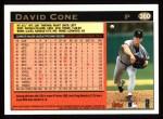 1997 Topps #360  David Cone  Back Thumbnail