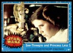 1977 Topps Star Wars #51   C-3PO and Princess Leia Front Thumbnail