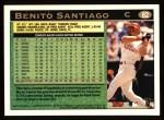 1997 Topps #82  Benito Santiago  Back Thumbnail