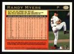 1997 Topps #133  Randy Myers  Back Thumbnail