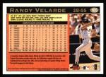 1997 Topps #185  Randy Velarde  Back Thumbnail