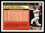 1997 Topps #198  Mike Macfarlane  Back Thumbnail