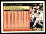 1997 Topps #365  Chili Davis  Back Thumbnail