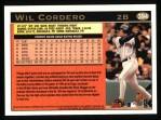 1997 Topps #394  Wil Cordero  Back Thumbnail