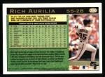 1997 Topps #396  Rich Aurilia  Back Thumbnail