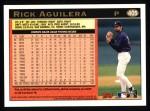 1997 Topps #405  Rick Aguilera  Back Thumbnail