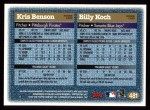 1997 Topps #481  Kris Benson / Billy Koch  Back Thumbnail