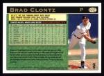 1997 Topps #224  Brad Clontz  Back Thumbnail