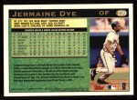 1997 Topps #239  Jermaine Dye  Back Thumbnail