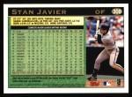 1997 Topps #308  Stan Javier  Back Thumbnail