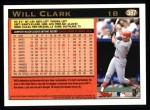 1997 Topps #387  Will Clark  Back Thumbnail