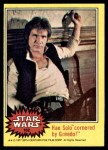 1977 Topps Star Wars #162   Han Solo cornered by Greedo Front Thumbnail