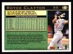 1997 Topps #18  Royce Clayton  Back Thumbnail