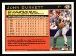 1997 Topps #27  John Burkett  Back Thumbnail