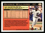 1997 Topps #150  Bernie Williams  Back Thumbnail