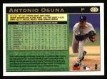 1997 Topps #240  Antonio Osuna  Back Thumbnail