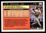 1997 Topps #263  J.T. Snow  Back Thumbnail