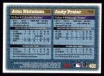 1997 Topps #482  John Nicholson / Andy Prater  Back Thumbnail