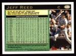 1997 Topps #486  Jeff Reed  Back Thumbnail