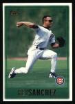 1997 Topps #179  Rey Sanchez  Front Thumbnail