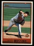 1997 Topps #375  Mike Mussina  Front Thumbnail