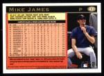 1997 Topps #431  Mike James  Back Thumbnail