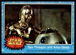1977 Topps Star Wars #2   C-3PO and R2-D2 Front Thumbnail