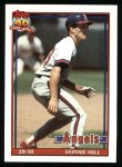 1991 Topps #36  Donnie Hill  Front Thumbnail