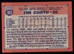 1991 Topps #103  Tim Costo  Back Thumbnail