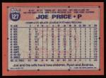 1991 Topps #127  Joe Price  Back Thumbnail
