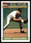 1991 Topps #399   -  Matt Williams All-Star Front Thumbnail