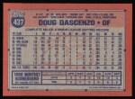 1991 Topps #437  Doug Dascenzo  Back Thumbnail