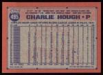 1991 Topps #495  Charlie Hough  Back Thumbnail