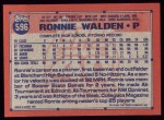 1991 Topps #596  Ronnie Walden  Back Thumbnail
