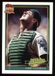 1991 Topps #625  Terry Steinbach  Front Thumbnail