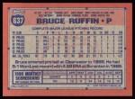 1991 Topps #637  Bruce Ruffin  Back Thumbnail