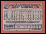 1991 Topps #705  Robby Thompson  Back Thumbnail