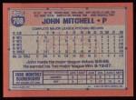 1991 Topps #708  John Mitchell  Back Thumbnail