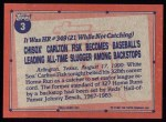 1991 Topps #3   -  Carlton Fisk Record Breaker Back Thumbnail