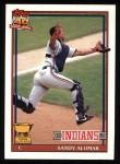 1991 Topps #165  Sandy Alomar Jr.  Front Thumbnail