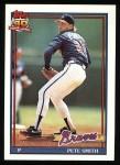 1991 Topps #383  Pete Smith  Front Thumbnail